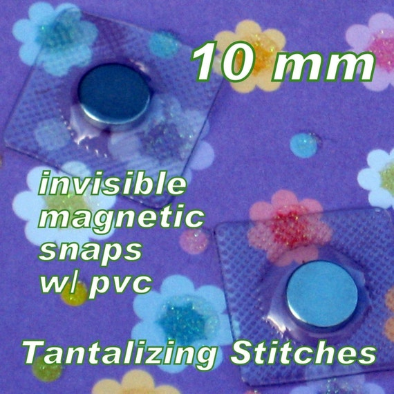 2 Sets Extra Small Hidden Sew In Magnetic Snaps (10 MM / 0.4 inch) with PVC