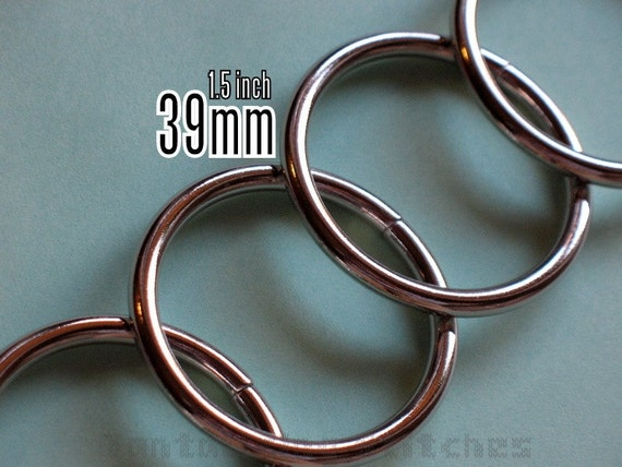 6 Pieces 1.5 inch / 39mm O Rings (available in Nickel, Antique Brass, and Gold Color Finish)