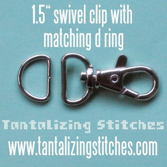 100 Sets 1.5 Inch Swivel Clips with Matching D Ring (available in Antique Brass and Nickel Finish)