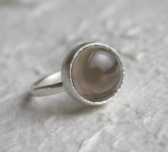 smoky quartz sterling silver ring by studio94 on etsy
