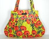 AWESOME ANNABELLA- pleated handbag/ tote/ purse made with Tina Givens Charleston fabrics.