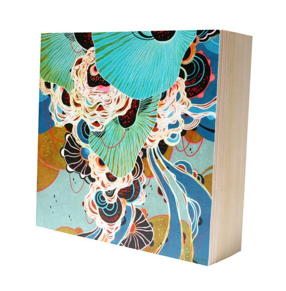 Swirl - Mounted Print on Wood