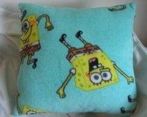 Sponge Bob Fleece Pillow  #4046  (This is the last one)