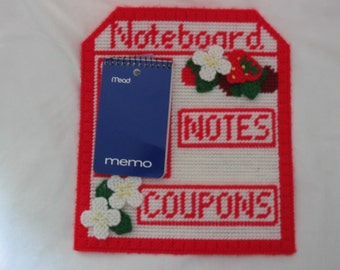 Noteboard with Strawberries  #820