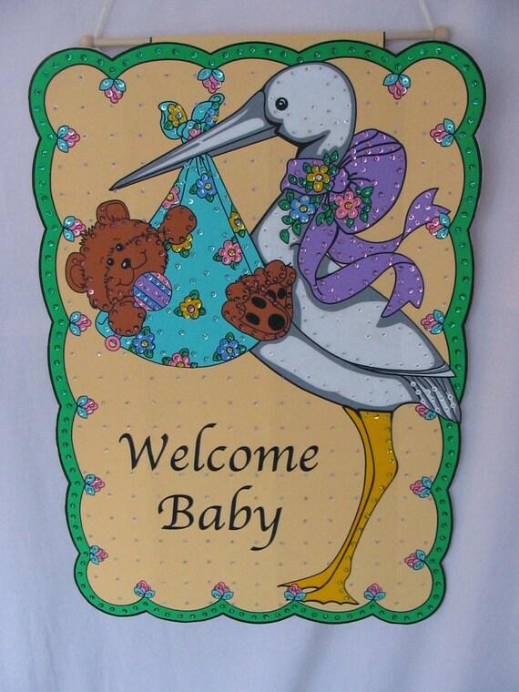 New baby door announcement 106 for 106 door cards