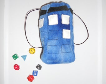 Dice Bag: Doctor Who Tardis  Swirly Blue Pouch, Bag