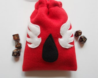 Warhammer 40K Blood Angels Dice Bag:  in Solid Red Pouch