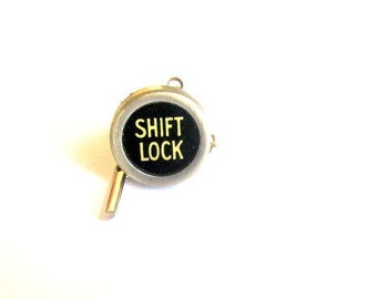 Vintage  Typewriter key TIE TACK Shift Lock
