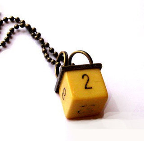 Vintage Dice Necklace