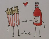 ketchup and fries valentine.