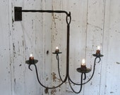 Chandelier Candle Holder Chandelier Candle Lighting Wall Mount Chandelier Blacksmith Forged