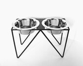 Elevated Dog Feeder Modern Dog Feeder Blacksmith Forged Dog Feeder Raised Bowl Holder Feeding Stands Pet Lover Custom