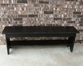 Rustic Bench Coffee Table Entryway Bench Storage Bench French Cottage Bench Modern Bench Custom Black