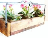 Rustic Wood Tray, Herb Planter, Herb Container Box, Plant Storage Box, Industrial Woodland
