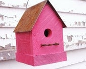 Rustic Birdhouse, Decorative Birdhouse, Cottage Birdhouse, Outdoor Birdhouse, Bird House