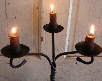Chandelier Candle Holder Lighting for Table Centerpiece or Side Table Early Lighting Forged Iron