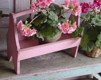 Plant Stand Holder Garden Caddy Wood Tool Organizer Bathroom Storage Custom