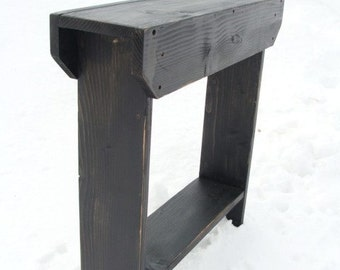 Console Table Side Table Entry Table Storage Table Narrow Table Wood Table, Modern Shabby Cottage Black Custom