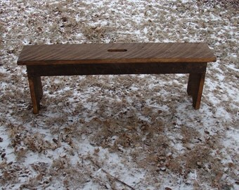 Rustic Wood Bench, Entryway Bench, Coffee Table, Industrial Modern Bench, Custom