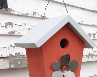 Wood Birdhouse, Decorative Bird House, Cottage Birdhouse, Functional Birdhouse, Garden Decor