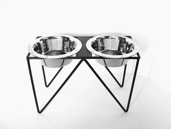 Modern Dog Feeder, Metal Dog Feeder, Industrial Steel Dog Feeder, Pet Furniture, Feeding Stand, Custom