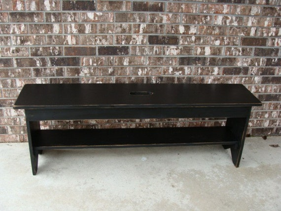 Rustic Bench Coffee Table Entryway Bench Storage Bench