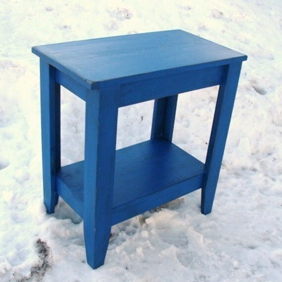 Entryway Table Console Table Sofa Table Storage Table Wood Table Painted Furniture, Cobalt Monoco Blue