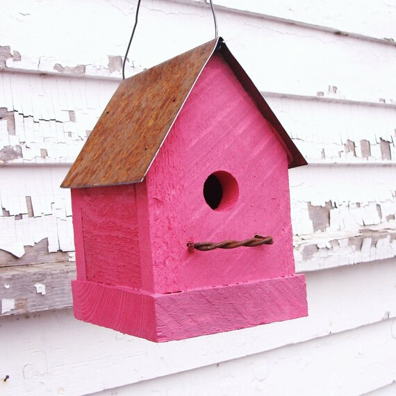 Rustic Birdhouse, Decorative Birdhouse, Cottage Birdhouse, Outdoor Birdhouse, Bird House