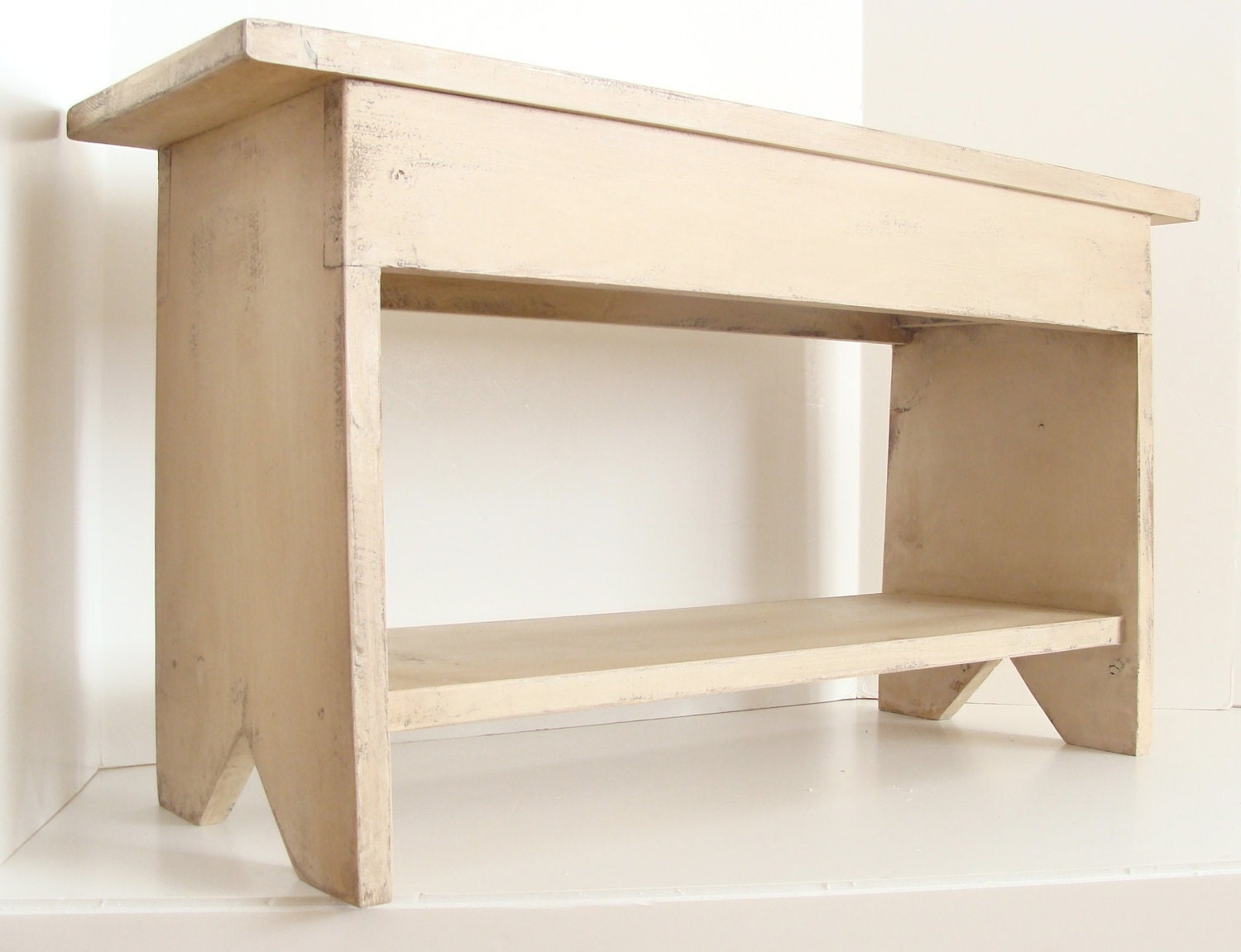 Wood bench storage bench entryway bench kids furniture Bench with shelf