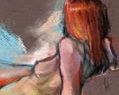 Female Nude 66 - Reclining Redhead