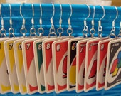 SALE Uno Card Earrings perfect for game night SALE