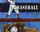 Baseball Decor, Kids Wall Art  8x10 Print