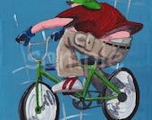 BMX Kids Wall Art Print 8x10