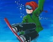 Snowboard Kids Wall Art Print 8x10