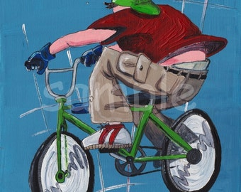 BMX Kids Wall Art Print 8x10