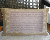 CUSTOM LISTING for Jaime - Jane Austen's PERSUASION Antique Book Transfer Pillow