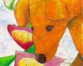 Print - Orange Puppy
