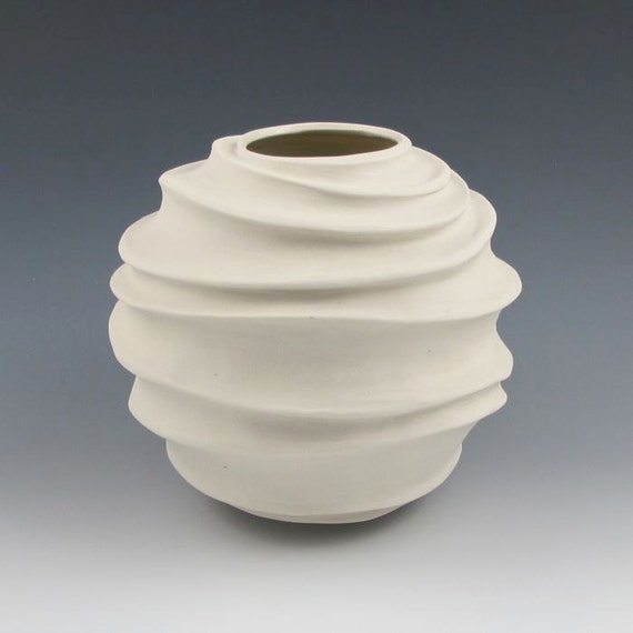 Items similar to carved modern sculptural ceramic pottery