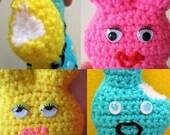 3D Marshmallow Bunny Set - Amigurumi  Crochet Pattern