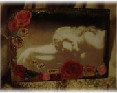 SleepingBeauty Roses  ACEO collage Gothic Fairy Tale