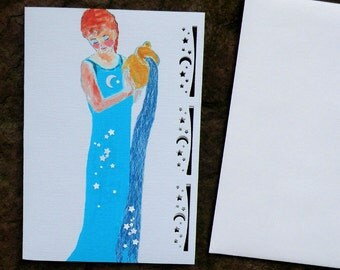 WATER GODDESS elemental art card 5x7