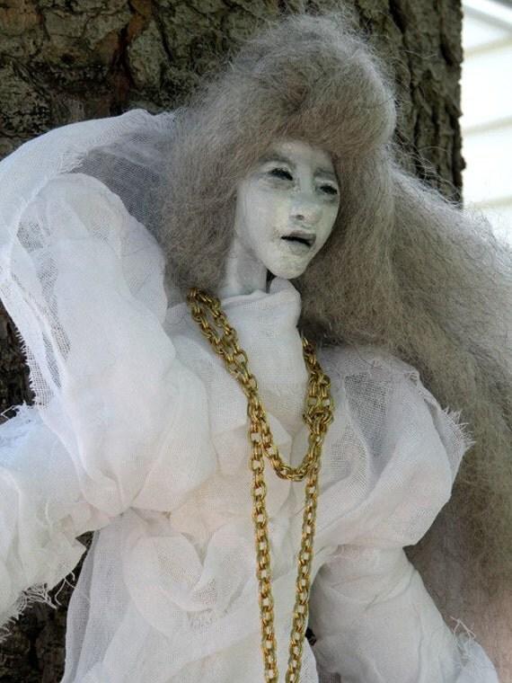RESERVED FOR VIOLAINE Wailing Banshee Elemental Spirit Art Doll