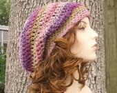 Pink Womens Hat Slouchy Beanie - Weekender Slouchy Hat Fantasy Pink Crochet Hat - Pink Hat Pink Beanie Womens Accessories Winter Hat