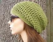 Avocado Green Slouchy Beanie Green Womens Hat - Weekender Slouchy Hat Green Crochet Hat - Green Hat Green Beanie Womens Accessories