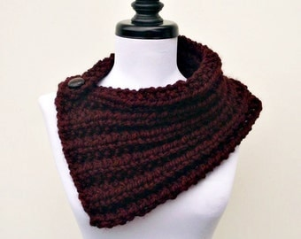Knit Cowl - Elspeth Cowl Scarf Oxblood Red Wine Merlot - Red Scarf Red Cowl Oxblood Scarf Oxblood Cowl Womens Accessories Fall Fashion