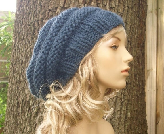 Pdf Knitting Pattern For The Beehive Beret Hat Free Shipping