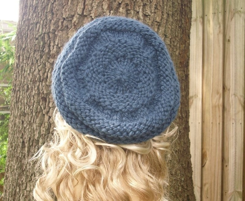 Oversized Beret Knitting Pattern : Instant Download Knitting Pattern - Knit Hat Pattern Original and Oversized B...