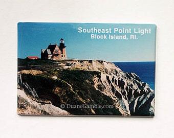 Block Island, Rhode Island,Southeast Lighthouse, Refrigerator Magnet,Nautical,Navigation Landmark,New England Gift