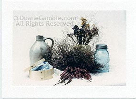 Country Still Life 5, Handmade Photographic Note Card