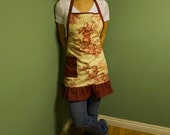 Full Apron Toile with Ruffle Accent